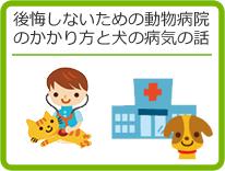 後悔しないための動物病院の選び方や、犬や猫の病気のお話